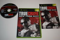 True Crime New York City Microsoft Xbox Video Game Complete
