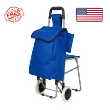 Seat Cart Travel Bag Three In One Multi Function Travel Trolley Shopping