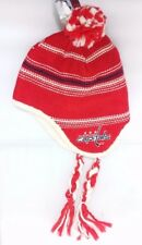 Washington Capitals NHL Winter Fitted Knit Peruvian Beanie Hat Skully Cap  NWT 1b3afd25f