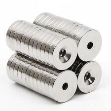 50tlg Starke Neodym Magnete N52 NdFeB Permanentmagnet Runder 15mm x 3mm Loch 3mm