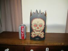 Rare Vintage Halloween Paper Die Cut Skull Lantern ~ Nice Original Antique ~ USA