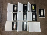 Pre-recorded VCR VHS Tapes (Lot of 9) These Come With Carry Cases