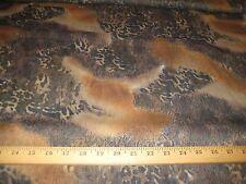 "Brown/Black/Rust Jungle Collage Animal Print Yoryu Chiffon Fabric  58"" W BTY"