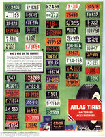ATLAS TIRES 1955 LICENCE PLATES OF N AMERICA VINTAGE ADVERTISING  TOOLBOX MAGNET
