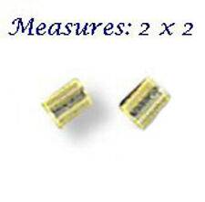 100 GOLD PLATED CRIMP TUBE BEADS 2 X 2 MM