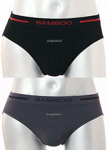 "2 Mens Briefs Bamboo Silk Fiber SEAMLESS US M L  30"" 32"" 34"" 36""  FAST SHIP USA"
