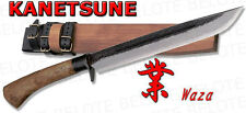 "Kanetsune Seki 10.6"" WAZA Damascus Field Knife w/ Wood Sheath KB-114 NEW"
