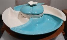 Vintage Mid Century USA  Ceramic Lazy Susan Relish Tray-1955<>7 PCS