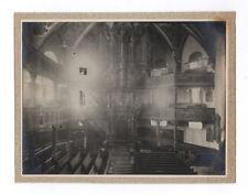 PHOTO ANCIENNE Intérieur ORGUE Église Basilique ? Vers 1900 Jeu de lumière
