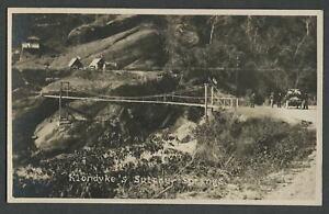 Baguio Benguet Philippines: 1910 RPPC Photo Postcard KLONDYKE HOT SPRINGS Bridge