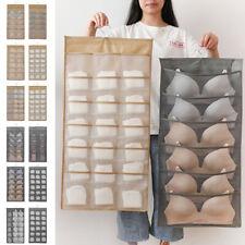 15/24/30 Pockets Storage Bag Door Hanging Wardrobe Bras Underwears Organizer