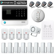 2.4G WiFi GSM GPRS SMS Wireless Home House Fire Security Inturder Alarm System