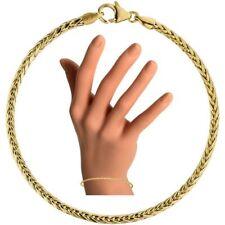 Zopfarmband 585 echt Gold Armkette Gelbgold 19 cm 2,6 mm stark Armband 14 Karat
