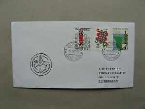 UNITED NATIONS GENEVA, cover to the Netherlands 1987, ao anti apartheid racism