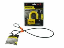 Kryptonite Evolution Series 4 Disc Lock Yellow and 525 2.5 ft Looped Cable