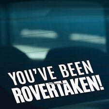 Si stavi rovertaken si adatta ROVER MG DIVERTENTE AUTO / paraurti / Finestrino in Vinile Adesivo Decalcomania