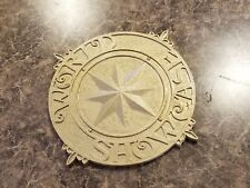 Full Scale World Showcase Medallion Inspired Plaque Prop Replica - Hammered Gold