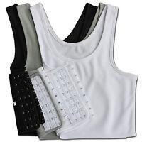 Frauen Schnalle FTM Short Brust Brustbinder Lesbian Trans Tomboy Plus size U3K9