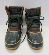 ThermoLite Dupont Insulated Rubber Winter Snow Duck Boots Womens 9 Steel Shank