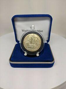 1783 8 Reales FF Silver Dollar Layered In 24k Gold Carolus III Dei-Gratia W/ Box
