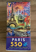 "Ceaco Paris Jigsaw Puzzle 24"" x 18"" /Puzzle Poster 550pc New"