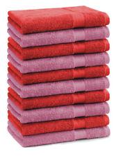Betz lot de 10 serviettes d'invités Premium: rouge & vieux rose, 30 x 50 cm