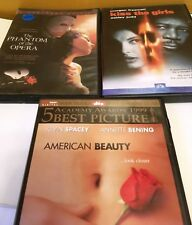 3 Movie DVDs Phantom of the Opera, American Beauty & Kiss the girls