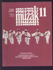 MUZAK 11/1976 JANNACCI ANGE BOWIE SPECIALE NAPOLI GRUPPO OPERAIO POMIGLIANO