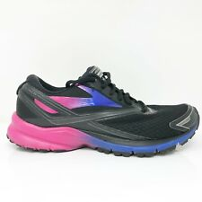 Brooks Womens Launch 4 1202341B066 Black Pink Running Shoes Lace Up Size 7.5 B