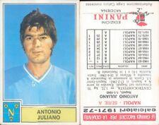 CALCIATORI PANINI A-1971/72*FIGURINA STICKER *NAPOLI-JULIANO*NEW