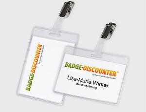 Ausweishülle Kartenhalter mit Clip Ausweishalter Ausweishlle Namensschilder Name
