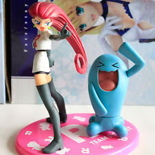 Pokemon Character Jesse&Wobbuffet Figure Pocket Monster Toy Collectible Doll