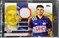 2020 Topps MLS Gustavo Bou Jumbo Relics Gold Parallel 40/50 NE Revolution