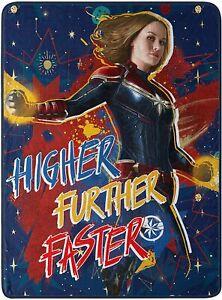 "Marvel's Captain Marvel, ""Higher, Further, Faster"" Throw Blanket, 46"" x 60"""