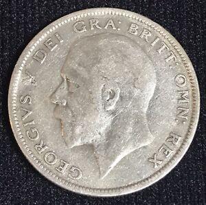 1929 British Half Crown Silver 0.500 Coin King George V Sterling Pre Decimal