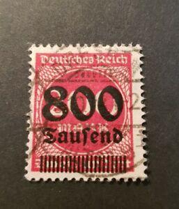 German Empire 1923 Wiemar Republic 800 Tsd On 200 Mark scarce colour