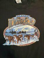Vintage 1999 Iditarod Alaska Black T-shirt XL Single Stitch Husky Race EUC