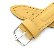 Vintage Military Watch Band 18mm Vostok Boctok Amphibia Yellow Genuine Leather