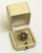 Antique Imperial Russian Faberge 18k 72 ПС Gold Diamond Ring Author's work