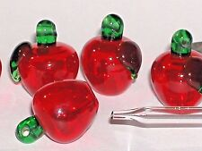 1 Murano Glass Aroma Bottle APPLE Diffuser hole perfume oil pendant small vial**
