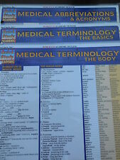 Barcharts Lot of 3 Different Medical Quick Study Guides