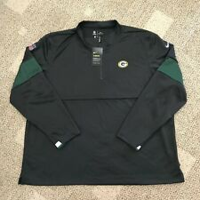 Men's Size Large L Nike Therma 1/2 Zip Pullover Top Gray NFL Green Bay Packers