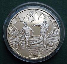 2011 Ukraine Coin 5 Hryven UAH UEFA Euro 2012 Final Tournament City of Kyiv UNC