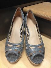 Women shoes wedge high heels color light gray size 8