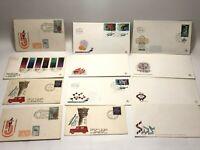 Vintage Israel Envelopes Rare Ephemera 1950s Old Stamp Collectible Lot Letters