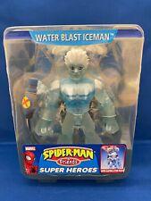 """Spider-Man & Friends Super Heroes Water Blast Iceman 6"""" Figure ToyBiz 2004 VHTF"""