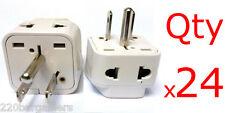 24pk Plug Converter 2 In 1 Universal American Adapter - Euro Asia Plug to USA