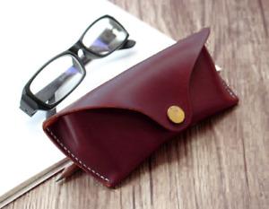 men women Eyeglass Cases sunglasses holder bag cow Leather Customize brown z525