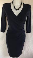 Ladies Artigiano Navy Ultimate Jersey Dress Size 10