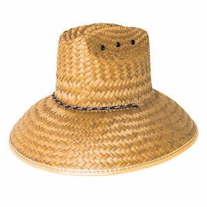 Peter Grimm Hasselhoff Straw Hat- 5 Inch Brim 100% Straw Lifeguard Hat